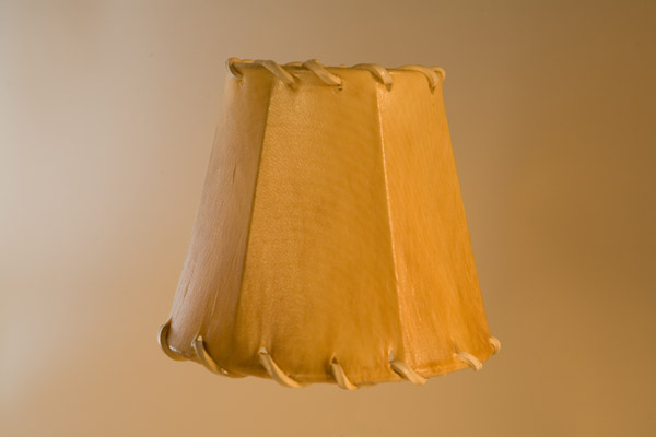 Rawhide Chandelier Lampshade, Empire