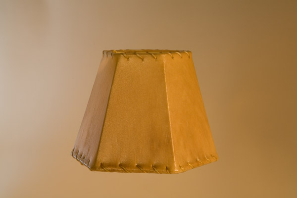 Rawhide Chandelier Lampshade, Hexagon