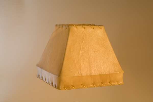 Rawhide Chandelier Lampshade, Square Gallery