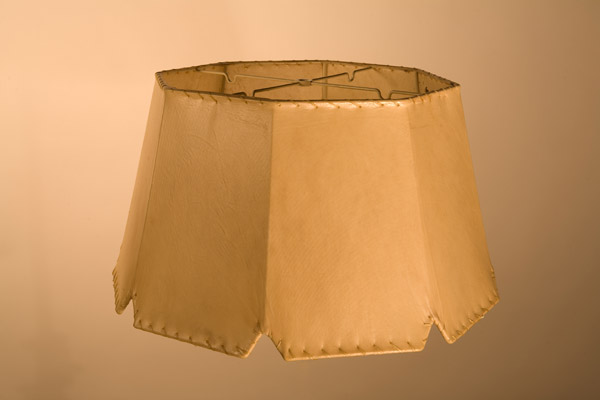 Rawhide Lampshades, ​Notched Octagon