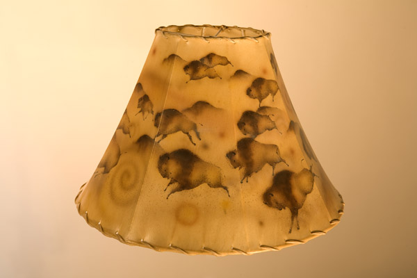 Painted Sheepskin Lampshades