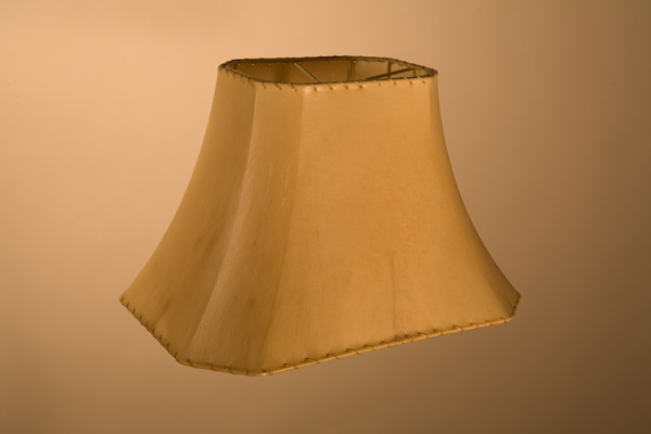 Rawhide Lampshades, ​​Cut Corner Rectangle