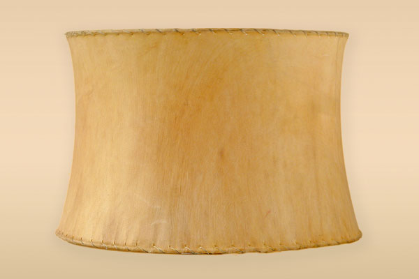 Contemporary Drum Rawhide Lampshades