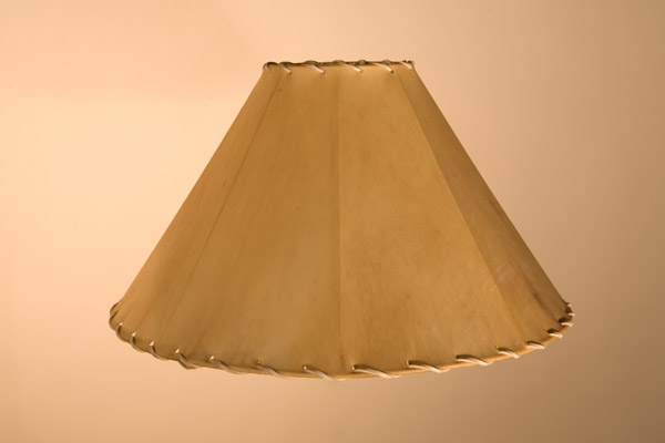 Rawhide Lampshades, Cone w/ Straight Ribs