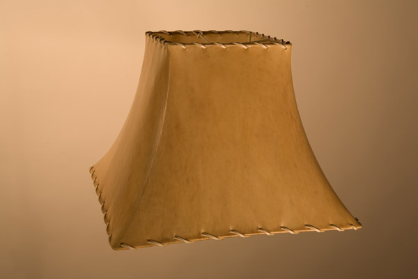 Rawhide Lampshades, ​Square Bell