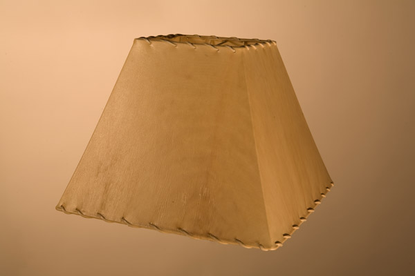 Rawhide Lampshades, Square