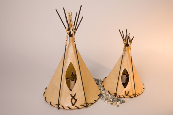 Sheepskin Tipi Lamp